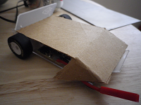 Catatonia with a temporary cardboard body to check dimensions